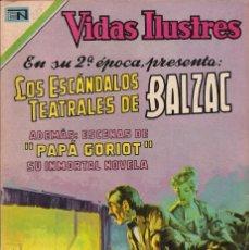 Tebeos: VIDAS ILUSTRES - NOVARO MEXICO # 225 1-ENE.-1970 BALZAC, LOS ESCÁNDALOS TEATRALES DE. Lote 295587788