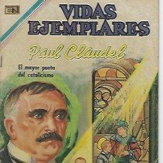 Tebeos: VIDAS EJEMPLARES - NOVARO MEXICO # 315 20-ABR.-1970 PAUL CLAUDEL. Lote 295638643
