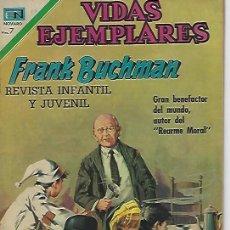 Tebeos: VIDAS EJEMPLARES - NOVARO MEXICO # 316 4-MAY.-1970 FRANK BUCHMAN. Lote 295638698