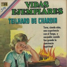 Tebeos: VIDAS EJEMPLARES - NOVARO MEXICO # 319 15-JUN.-1970 TEILHARD DE CHARDIN. Lote 295638923
