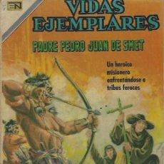 Tebeos: VIDAS EJEMPLARES - NOVARO MEXICO # 322 27-JUL.-1970 PADRE PEDRO JUAN DE SMET I. Lote 295639088