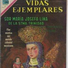 Tebeos: VIDAS EJEMPLARES - NOVARO MEXICO # 324 7-SEP.-1970 SOR MARÍA JOSEFA LINA DE LA STMA TRINIDAD. Lote 295639243