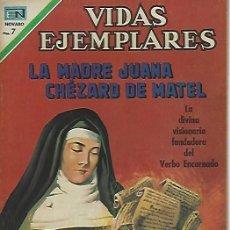 Tebeos: VIDAS EJEMPLARES - NOVARO MEXICO # 331 14-DIC.-1970 LA MADRE JUANA CHEZARD DE MATEL. Lote 295639653