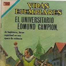 Tebeos: VIDAS EJEMPLARES - NOVARO MEXICO # 346 18-JUL.-1971 EDMUNDO CAMPION, EL UNIVERSITARIO. Lote 295639773