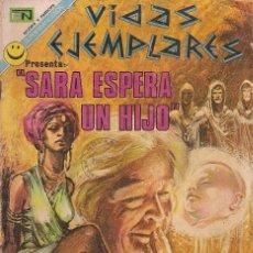 Tebeos: VIDAS EJEMPLARES - NOVARO MEXICO # 370 18-JUN.-1972 SARA ESPERA UN HIJO. Lote 295639913