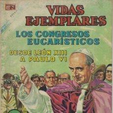 Tebeos: VIDAS EJEMPLARES - NOVARO MEXICO # EXTRAORDINARIO 15-AGO.-1968 LOS CONGRESOS EUCARÍSTICOS. Lote 295640208
