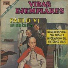 Tebeos: VIDAS EJEMPLARES - NOVARO MEXICO # EXTRAORDINARIO 15-NOV.-1968 PAULO VI EN AMÉRICA. Lote 295640318