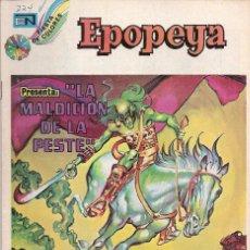Tebeos: EPOPEYA - NOVARO MEXICO # 224 16-JAN-74 LA MALDICION DE LA PESTE. Lote 295682873