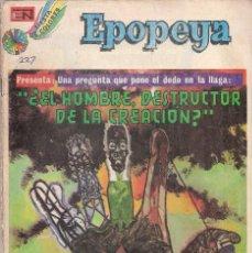 Tebeos: EPOPEYA - NOVARO MEXICO # 227 27-FEB-74 EL HOMBRE, DESTRUCTOR DE LA CREACION. Lote 295683078