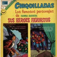 """Tebeos: CHIQUILLADAS Nº 335 """"SUS HÉROES FAVORITOS"""" (NOVARO, 1972). Lote 295834278"""