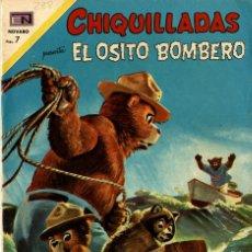 "Tebeos: CHIQUILLADAS Nº 288 ""EL OSITO BOMBERO"" (NOVARO, 1970). Lote 295835158"