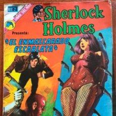 Tebeos: SHERLOCK HOLMES. Nº 10. NOVARO, 1973 - EL ENMASCARADO ESCARLATA.. Lote 295835973