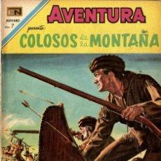 Tebeos: AVENTURA Nº 625 - COLOSOS DE LA MONTAÑA (NOVARO, 1969). Lote 295839968