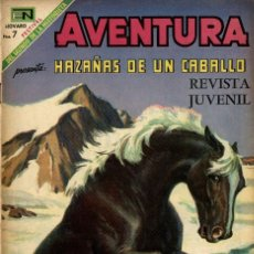 Tebeos: AVENTURA Nº 593 -HAZAÑAS DE UN CABALLO- (NOVARO, 1969). Lote 295840653