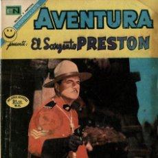 Tebeos: AVENTURA -EL SARGENTO PRESTON- Nº745 (NOVARO, 1972). Lote 295868723