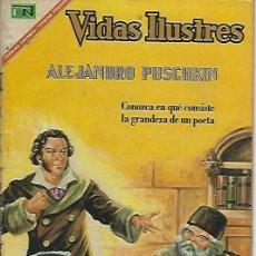 Tebeos: VIDAS ILUSTRES - NOVARO MEXICO # 167 1-AGO.-1967 ALEJANDRO PUSCHKIN. Lote 295886188