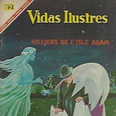 Tebeos: VIDAS ILUSTRES - NOVARO MEXICO # 164 15-JUN.-1967 VILLIERS DE L'ISLE ADAM. Lote 295886203