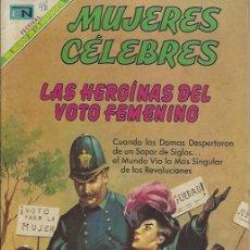 Tebeos: MUJERES CELEBRES - NOVARO MEXICO # 98 1-MAY.-1969 LAS HEROÍNAS DEL VOTO FEMENINO. Lote 295886278