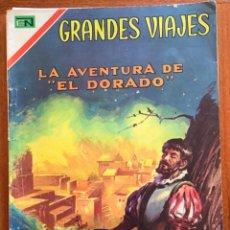 Tebeos: GRANDES VIAJES. Nº 58. NOVARO, 1967 - LA AVENTURA DE EL DORADO. Lote 295916213