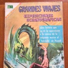 Tebeos: GRANDES VIAJES. Nº 73. NOVARO, 1969 - EXPEDICIONES OCEANOGRAFICAS. Lote 295916578
