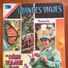 Tebeos: GRANDES VIAJES. Nº 138. NOVARO, 1973 - COMO VIAJAN LAS PLANTAS. Lote 295916978