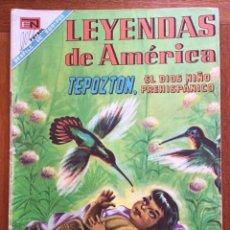 Tebeos: LEYENDAS DE AMERICA Nº 153. NOVARO, 1968 - TEPOZTON, EL DIOS NIÑO PREHISPANICO. Lote 295925633