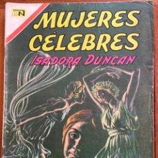 Tebeos: MUJERES CELEBRES, Nº 81. NOVARO, 1967 - ISADORA DUNCAN. Lote 295954198
