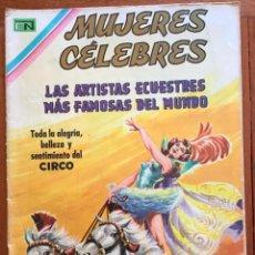 Tebeos: MUJERES CELEBRES, Nº 113. NOVARO, 1970 - LAS ARTISTAS ECUESTRES MAS FAMOSAS DEL MUNDO. Lote 295964338
