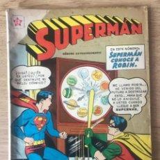 Tebeos: SUPERMAN CONOCE A ROBIN NÚMERO EXTRAORDINARIO BATMAN ROBIN 1959 EDICIONES RECREATIVAS NOVARO. Lote 296628603
