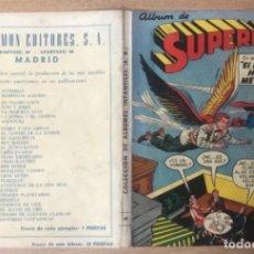 Tebeos: SUPERMAN PORTADA ÁLBUM 50 VACIA1959 EDICIONES RECREATIVAS NOVARO. Lote 296629583