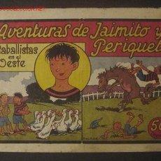 Tebeos: AVENTURAS DE JAIMITO Y PERIQUETE - PALMER (VALENCIANA) ..... Nº 1. Lote 26645778