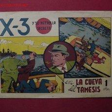 Tebeos: X-3 PATRULLA SECRETA (VALENCIANA - 1945) .... ¡¡ Nº 1 !!. Lote 26756250