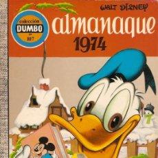 Tebeos: ALMANQUE 1974 COLECCION DUMBO 2ª Nº 107 . Lote 20450793
