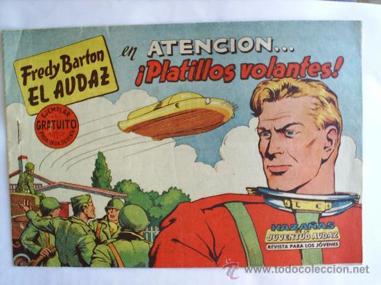 FREDY BARTON EL AUDAZ , NUMERO 1 , 1960 ORIGINAL , EDITORIAL VALENCIANA , MUY BUENA CONSERVACION (Tebeos y Cómics - Números 1)