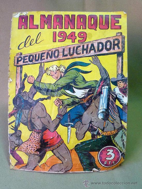 COMIC, ALMANAQUE DEL 1949, PEQUEÑO LUCHADOR, Nº 17, EDITORIAL VALENCIANA, TAPAS SUELTAS (Tebeos y Cómics - Números 1)