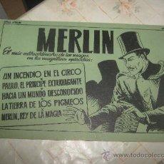 Tebeos: MERLIN Nº 1,ALBUM VERDE,SIN CONTRAPORTADA. Lote 23207805