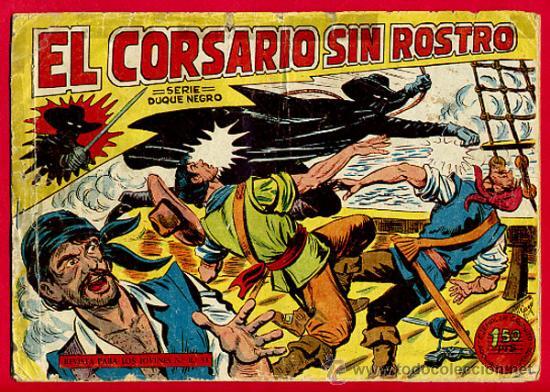 EL CORSARIO SIN ROSTRO , SERIE DUQUE NEGRO , Nº 1 , EDITORIAL MAGA , ORIGINAL , C3 (Tebeos y Cómics - Números 1)