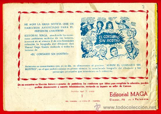 Tebeos: EL CORSARIO SIN ROSTRO , SERIE DUQUE NEGRO , Nº 1 , EDITORIAL MAGA , ORIGINAL , C3 - Foto 2 - 27235434