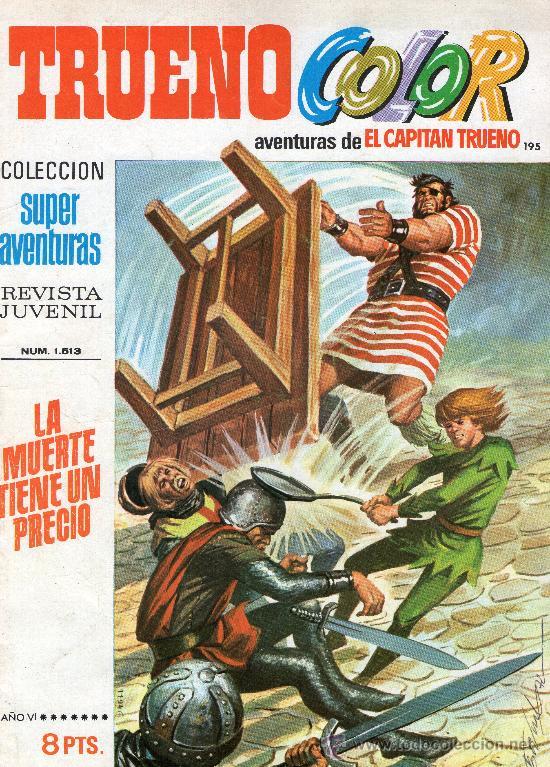 TRUENO COLOR Nº 195 - AÑO VI - SUPERAVENTURAS Nº 1.513 - EDITORIAL BRUGUERA - AÑO 1973. (Tebeos y Cómics - Números 1)