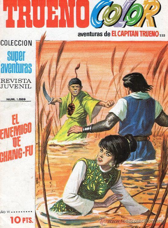 TRUENO COLOR Nº 233 - AÑO VI - SUPERAVENTURAS Nº 1.589 - EDITORIAL BRUGUERA - AÑO 1973. (Tebeos y Cómics - Números 1)