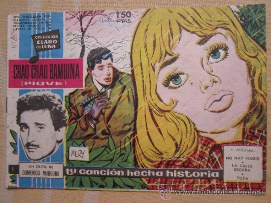 COLECCION CLARO DE LUNA , NUMERO 1, DOMENICO MODUGNO 1958 (Tebeos y Cómics - Números 1)