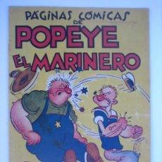Tebeos: POPEYE Nº 1 (COLECCION AUDAZ). ORIGINAL. H. AMERICANA.. Lote 35780109