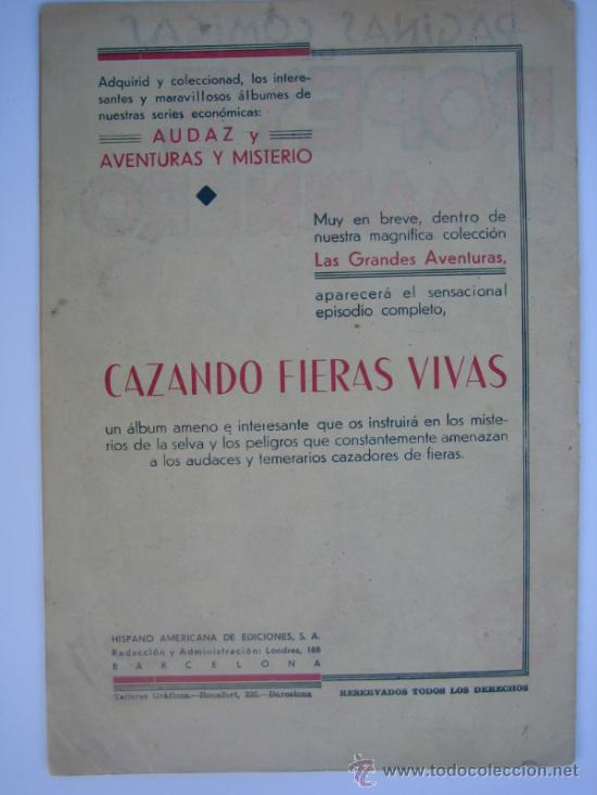 Tebeos: POPEYE Nº 1 (COLECCION AUDAZ). ORIGINAL. H. AMERICANA. - Foto 2 - 35780109