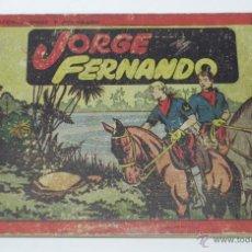 Tebeos: JORGE Y FERNANDO Nº 1, TOMO ROJO ORIGINAL, EDITORIAL HISPAÑO AMERICANA DE LOS AÑOS 40, PORTADA UN PO. Lote 42215724