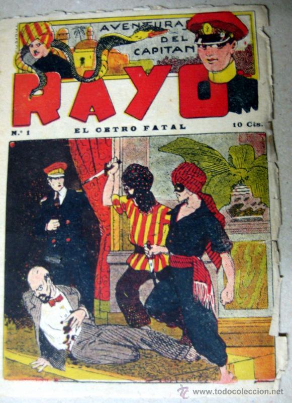 Nº1 - AVENTURAS DEL CAPITAN RAYO. EL CETRO FATAL. Nº1 - MUY RARO (Tebeos y Cómics - Números 1)
