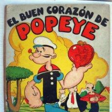 Tebeos: EL BUEN CORAZON DE POPEYE , ALBUM MOLINO Nº 1 , TAPA DURA , GRAN FORMATO, ORIGINAL , H. Lote 49700426