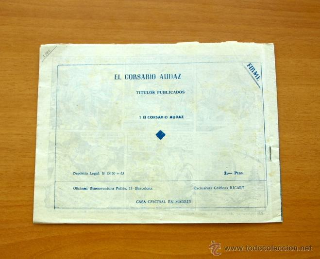Tebeos: El Corsario audaz de 2 ptas. - Nº 1 Editorial Ricart 1963 - Foto 5 - 50180186