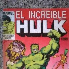 Tebeos: EL INCREIBLE HULK Nº 1 - EDICION ARGENTINA - EDIT. PAVON - 1993 - COLOR - RARO!!. Lote 50240058