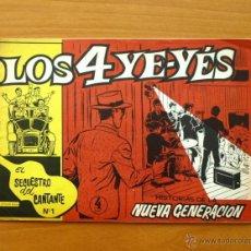 Tebeos: LOS 4 YE-YÉS´- Nº 1 EL SECUESTRO DEL CANTANTE - EDICIONES OLIVE Y HONTORIA 1966. Lote 50316259