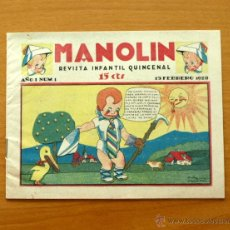 Tebeos: MANOLIN´- Nº 1 - TALLERES OFFSET 1928. Lote 50316775